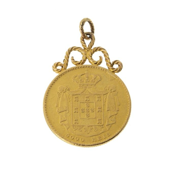 Moeda Ouro D. Luís Guimarães - imagem 1