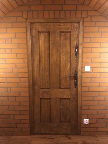 drzwi drewniane surowe 90x200 , drzwi do piwniczki 7cm grubości