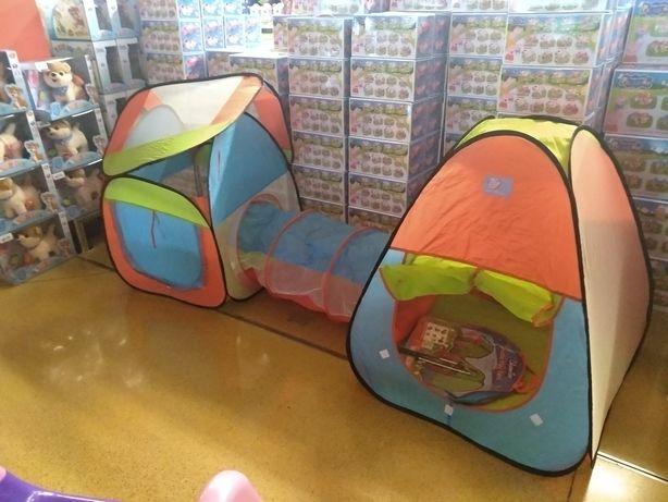 Палатка детская с тоннелем ,переходом намет детсктй A999-120