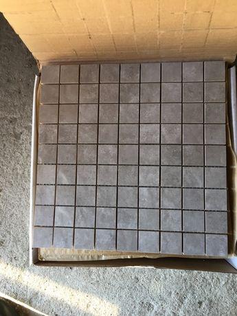 Mozaika  płytki  kostka 3x3 cm szary-brąz