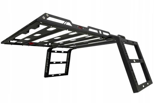 JEEP WRANGLER bagażnik dachowy z drabinką + 4 LED
