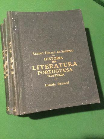 Livro de Literatura Portuguesa 3 volumes 1929