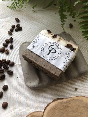 Ręcznie robione naturalnie peelingujące mydła kawa wanilia