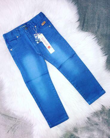 Новые голубые джинсы, брюки Boboli на мальчика 4 года, 104 см
