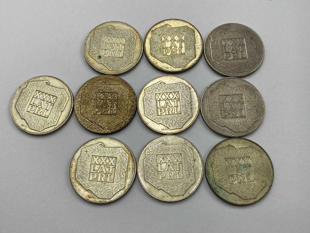 Srebrne monety XXX lat PRL 10 sztuk
