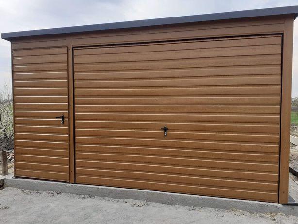 Garaz blaszany drewnopodobny 4x6