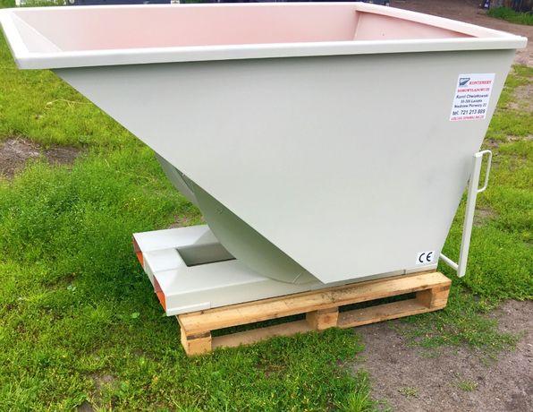 Kontener, szufla, pojemnik uchylny, koleba samowyładowcza 1,5m3