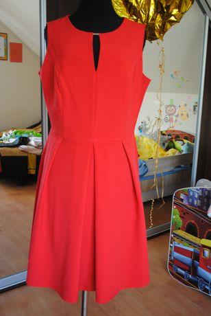 czerwona sukienka, rozmiar 44