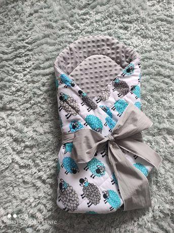 Rożek niemowlęcy minky 75x75