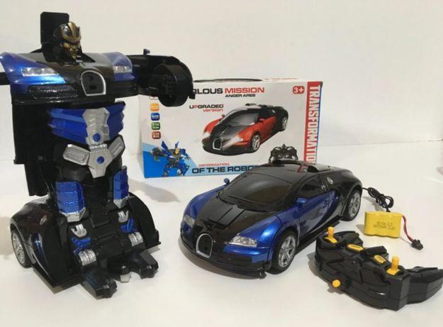 Машинка радиоуправляемая трансформер Robot Car Bugatti