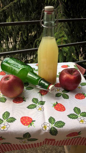 """Ocet jabłkowy domowy ekologiczny """"żywy"""" na miodzie"""
