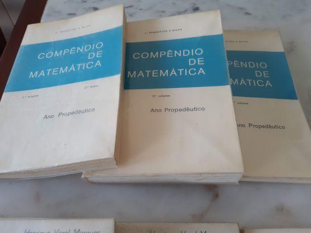 Textos pré-universitários Matemática, 4 volumes, 1979
