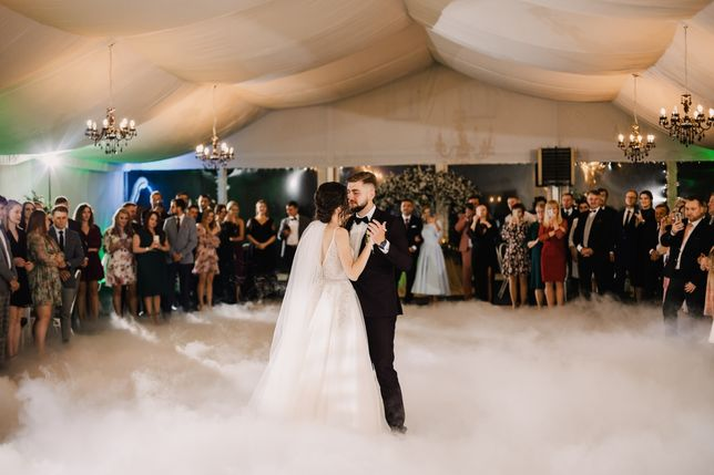 Taniec w chmurach I Ciężki dym + fontanna iskier I