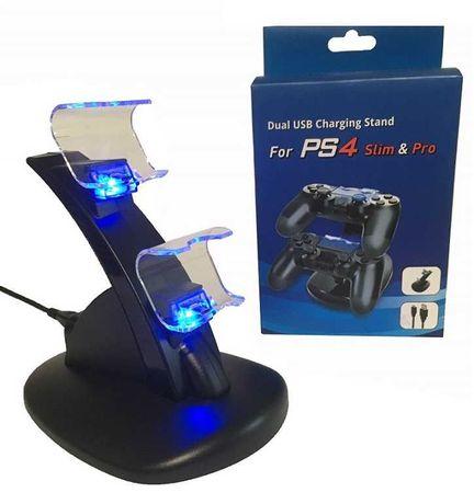 Stacja dokująca ładowarka stojak do padów PS4 ** Video-Play Wejherowo