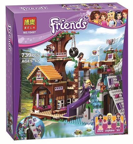 Конструктор Bela Friends 10497 Спортивный лагерь, Дом на дереве. Лего