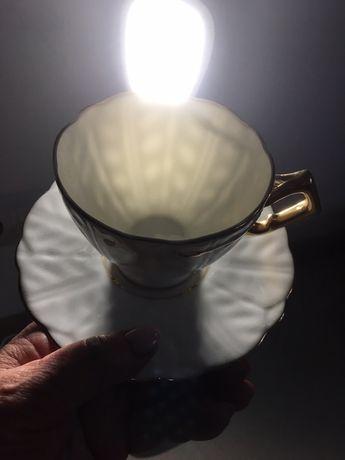 Чайный набор на 6 персон Англия Новый Керамика стразы золото Подарок