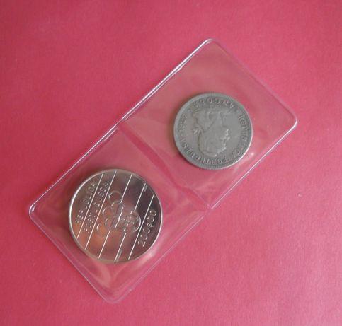Bolsas Transparentes moedas carteira BNC e Vaticano, notas e postais