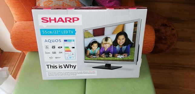 Telewizor LED Sharp 22 całe uszkodzony
