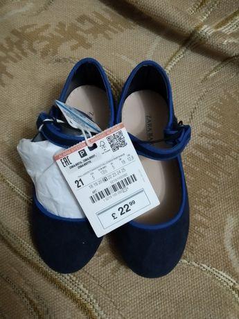 Детские босоножки туфельки 21 размер новые девочке Zara