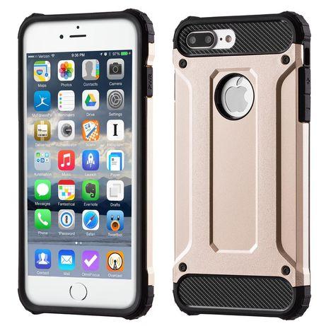 Capa Anti Shock / Rígida Lmobile Iphone 7 E 8 Plus - Dourado
