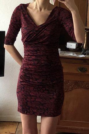 Suknia Diane von Fürstenberg 36 38 s/m la mania oryginal jedwab