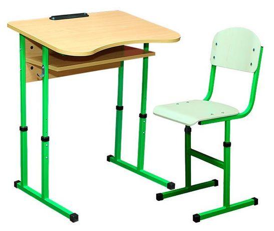 Парта + стілець одномістний регул. антис. 4-6 р.г. на квадратній трубі