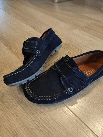 Buty chłopięce skórzane wizytowe komunijne 37 dl stopy 23