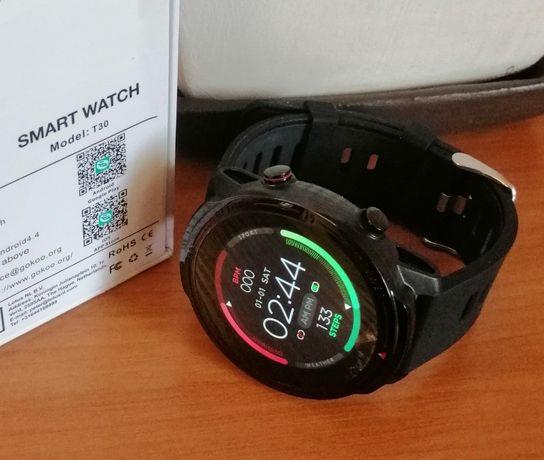 Smartwatch zegarek GOKOO T30 dotykowy, sportowe funkcje, powiadomienia