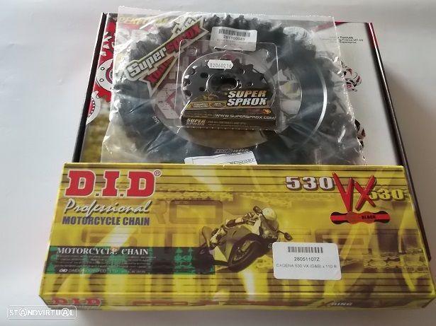 Kit transmissao corr. DID VX X-Ring Honda CB 1000 R/RA de 2008 a 2016