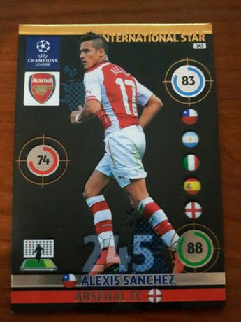 Karta Champions league 2014/15 International star Alexis Sanchez