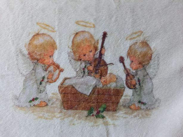 плед одеяло детское в роддом на выписку новорожденному крестины крыжма