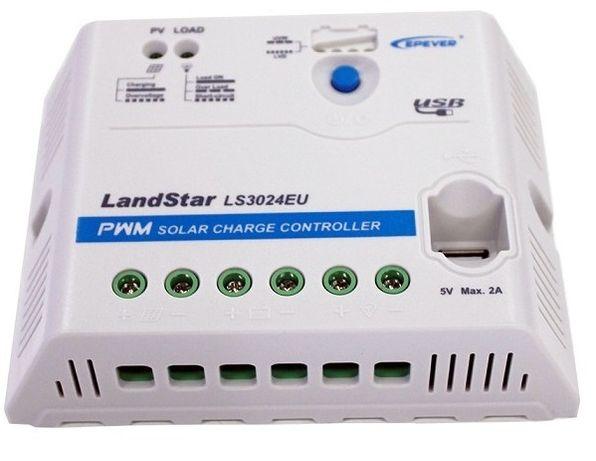Solarny regulator ładowania 30A PWM PV SOLAR Panel Kamper Domek