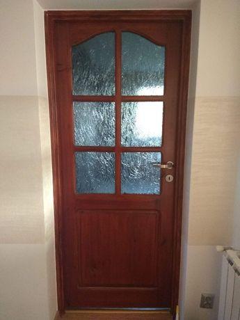 Sprzedam drzwi pokojowe drewniane szer 80