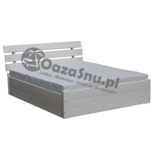 łóżko drewniane sosnowe Santi 160x200 podnoszone z pojemnikiem 27 cm