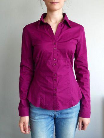 Amarantowa koszula C&A S