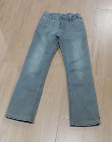 Calças de ganga cinza forradas