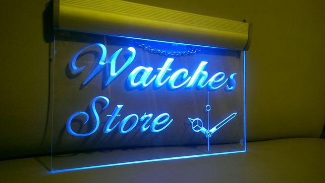 Вывеска для магазина часов