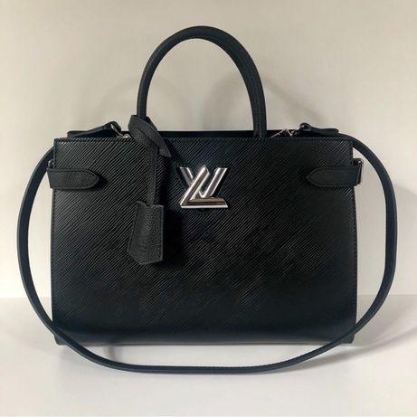 Torebka Louis Vuitton Twist Tote czarna skóra naturalna