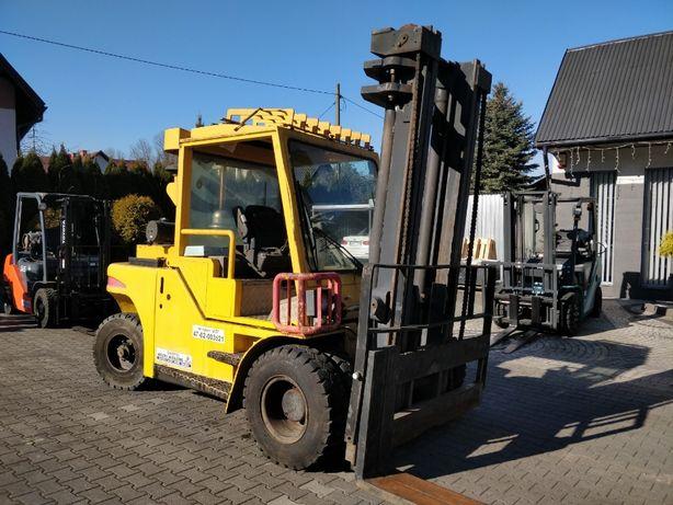 Wózek widlowy Dantruck 9670 widlak diesel podnośnik masztowy
