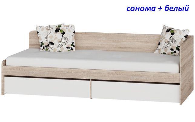 Односпальная кровать с ящиками Соната-800 Эверест