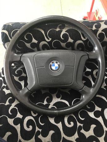 Рулевое колесо, руль кожаный БМВ Е39