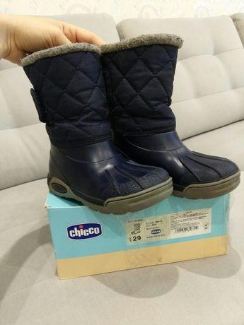 Chicco резиновые утеплённые сапоги 17.5-18 см