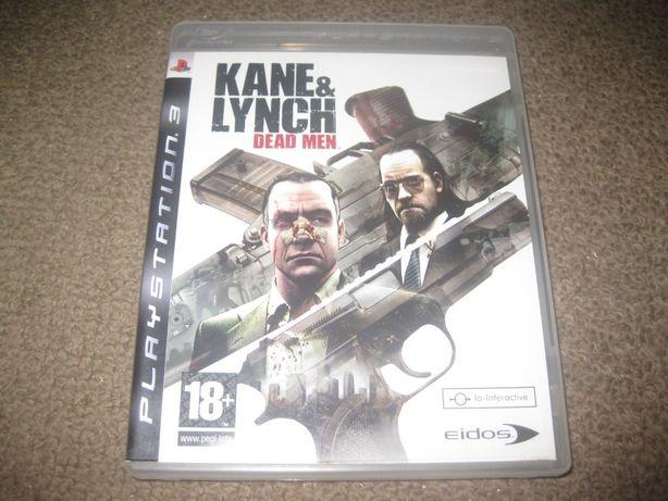 """Jogo """"Kane & Lynch: Dead Men"""" PS3/Completo!"""