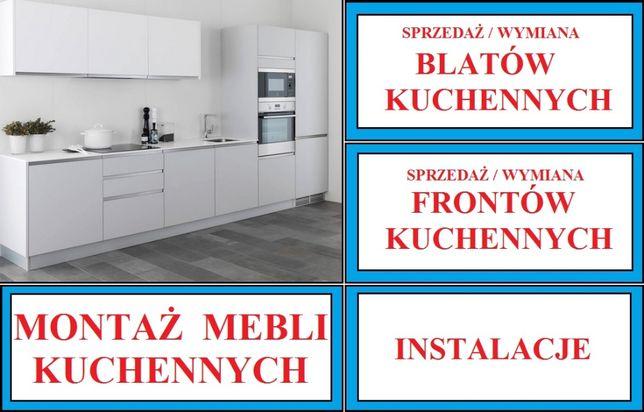 Montaż mebli kuchennych - wymiana blatów - IKEA BRW BODZIO itp.