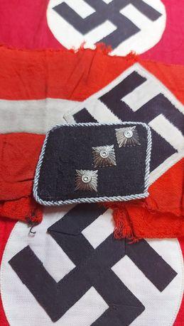 Collar-tab SS Untersturmführer Excelente réplica Germany nazi suástica