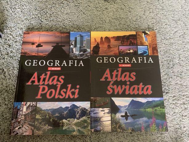 Atlas świata atlas Polski geografia demart nowe