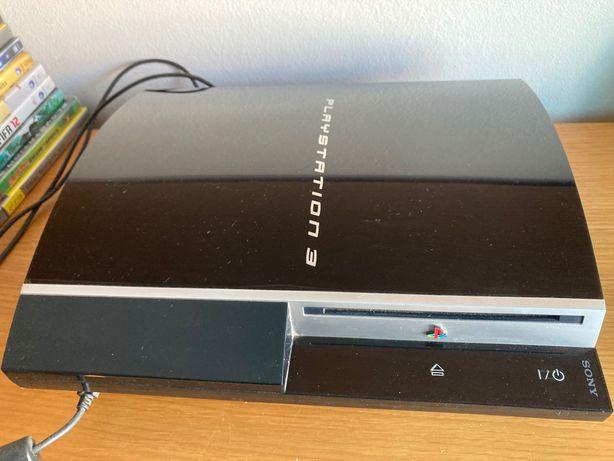 PS3 + 10 jogos + comandos/acessórios