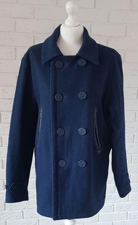 LEVI'S płaszcz damski wełna granatowy L/XL