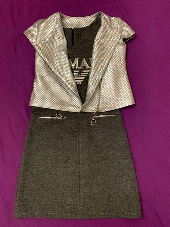 Платье костюм для девочки 146 рост