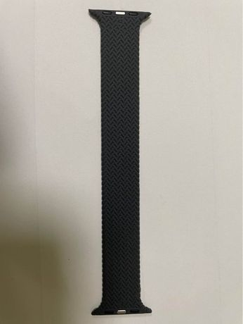 Braided Solo Loop silicone Strap For Apple Watch band 44mm Elastic